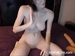 My Cute Sister can sit on a Dildo for all day - HotGalCam.com