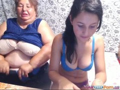Mom and daughter on webcam