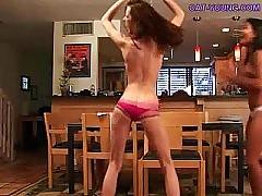 Teen girls friends strip off on cam