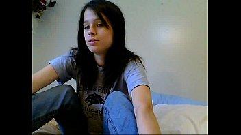 Hot brunette teen on cam