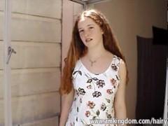 Hairy redhead teen Rachel