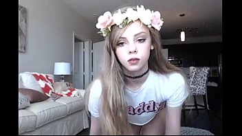 18 Year Old Skinny Teen SexyJenna from WebCamTeens.Online Masturbates on Webcam